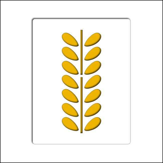 pochoir feuilles acacia