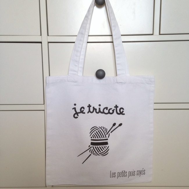 tote bag pochoir je tricote