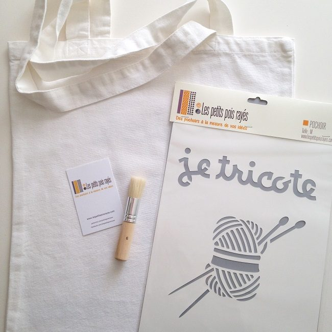kit tote bag pochoir je tricote