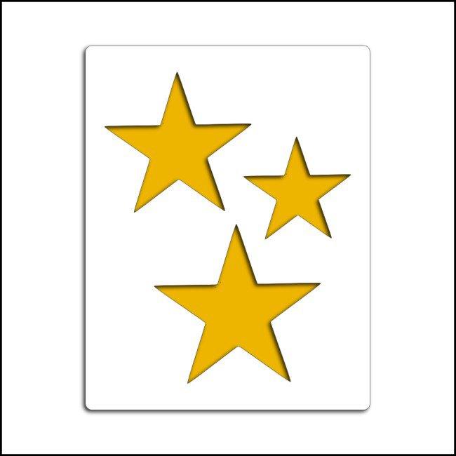 Pochoir étoiles