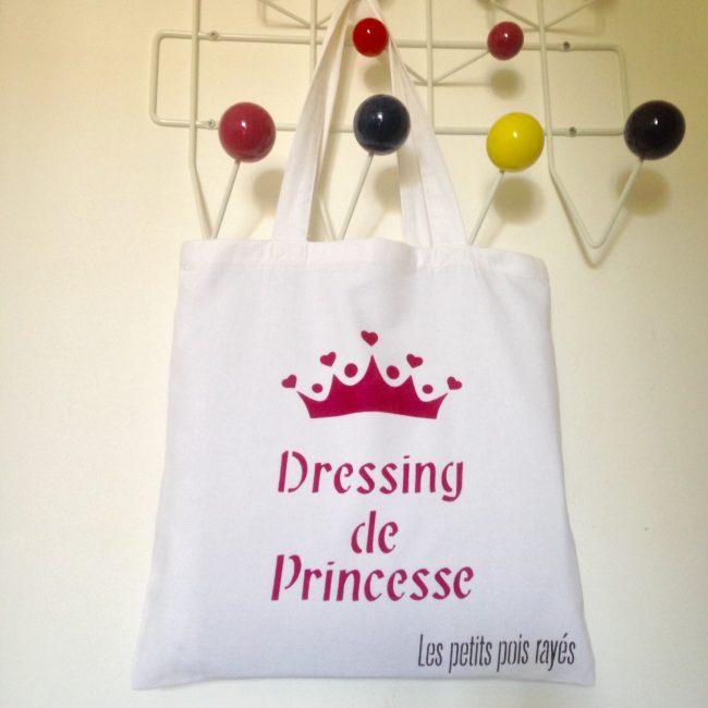 Tote bag pochoir dressing de princesse