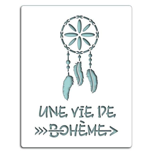 Pochoir UNE VIE DE BOHÈME (n°142)