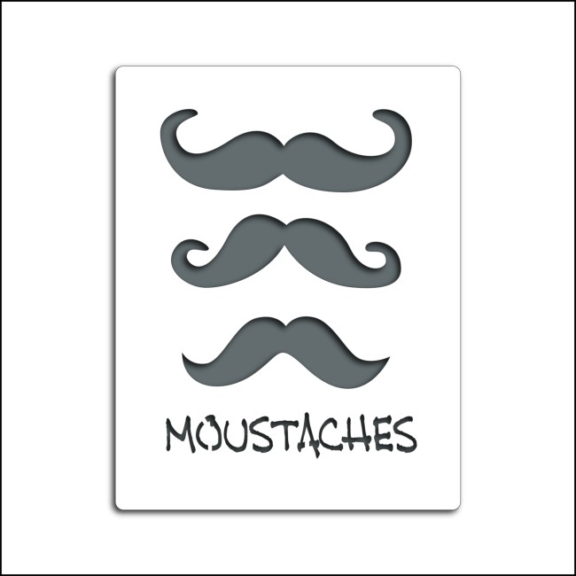 Pochoir MOUSTACHES