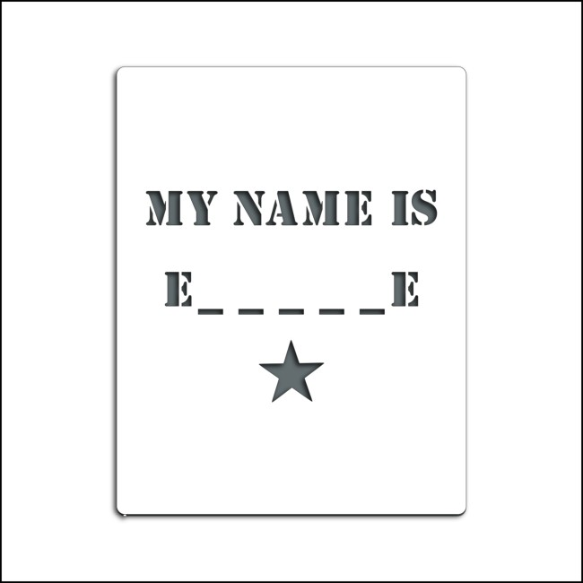 Pochoir personnalisable MY NAME IS
