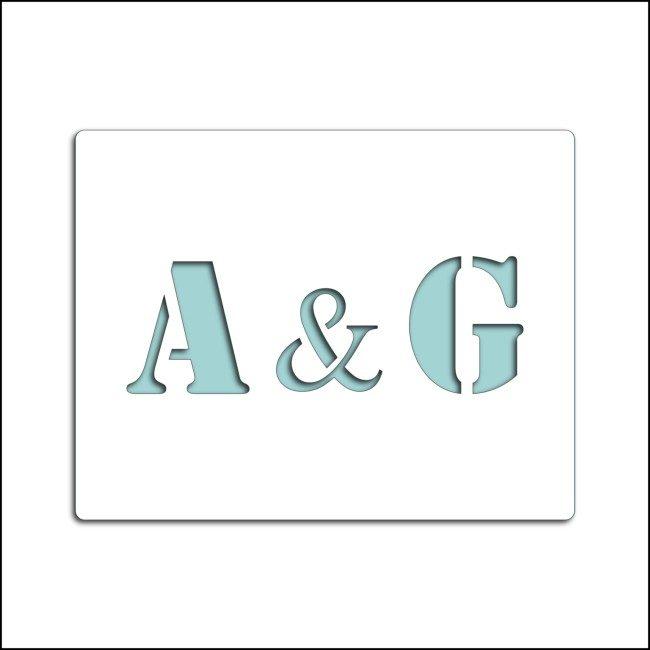 Pochoir personnalisable A&G