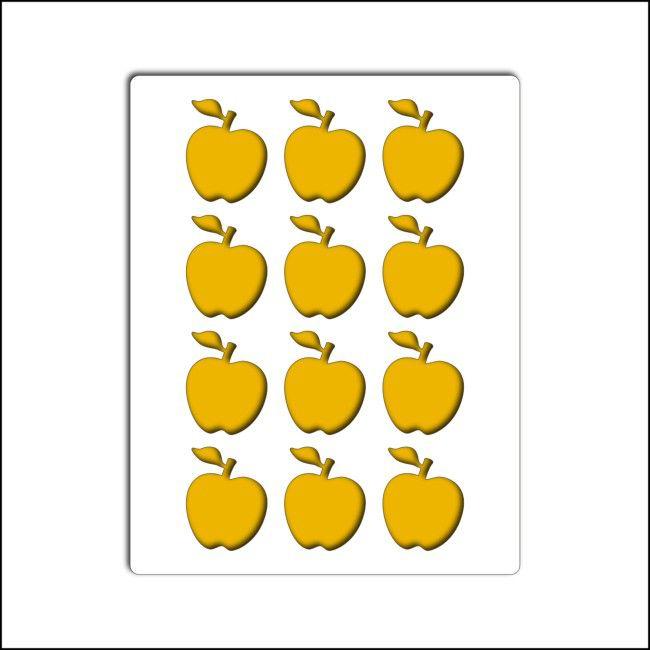 pochoir pommes