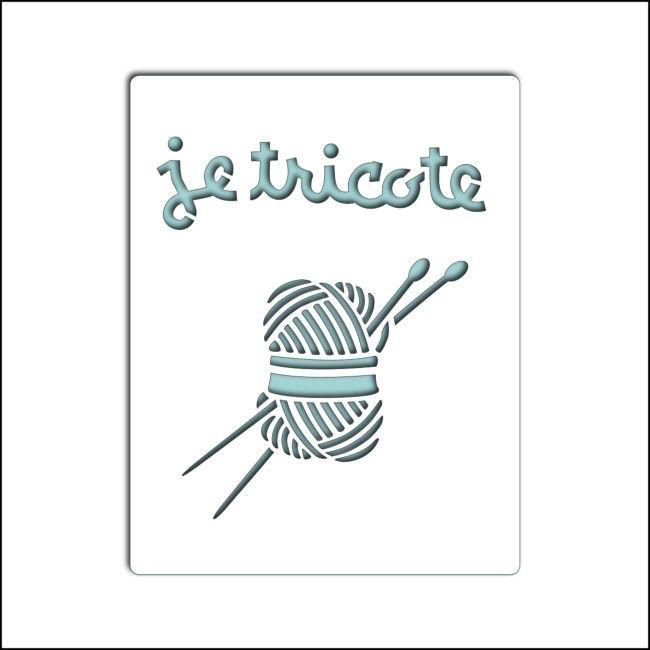 pochoir je tricote