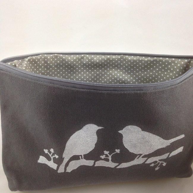 Intérieur pochette oiseaux