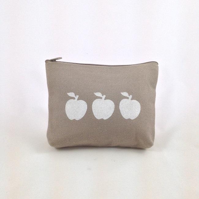 Pochette pochoir pommes